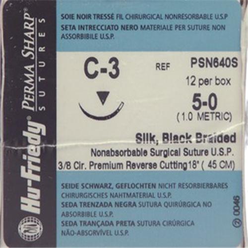 HU-FRIEDY HECHTZIJDE GEVLOCHTEN 3-0 PSN640S MET NAALD C3 45cm (12st)