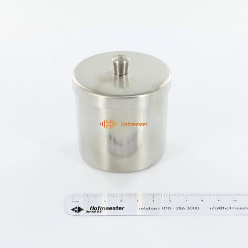 SKANSTAAL WATTENROLLEN HOUDER RVS MET DEKSEL (6cm)
