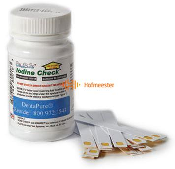 FHS DENTAPURE IODINE TEST STRIPS (50st) REF DPTEST