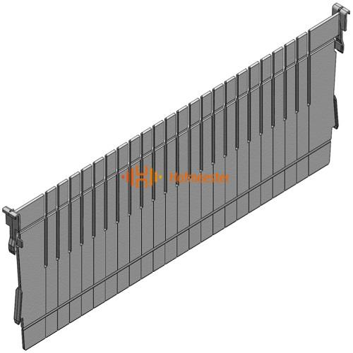 H+H SYSTEM FLEXMODULE VOORRAADSYSTEEM VERDELER L600xH200 GRIJS ABS