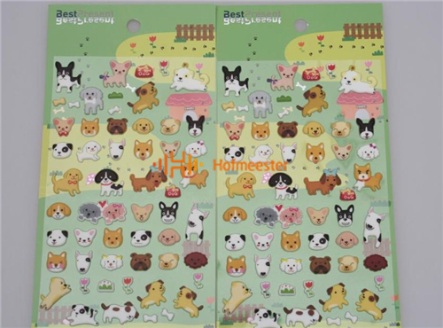 BEST PRESENT STICKERS PUFFY 3D (10st)