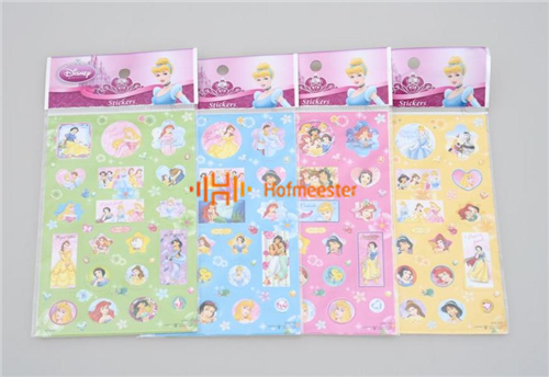 BEST PRESENT STICKERS 3D PRINSES (10st)