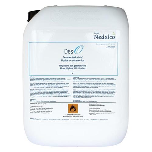 NEDALCO DES-O DESINFECTIE-ALCOHOL 80% (5ltr)