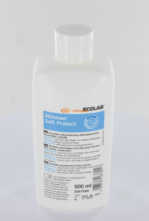 ECOLAB SKINMAN HANDENDESINFECTIE SOFT PROTECT (500ml)