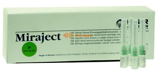 HAGER&WERKEN MIRAJECT-P BLUNT NEEDLES 21G 0,8x25mm GROEN