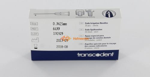TRANSCODENT SPOELNAALDEN STERIEL 30G 0,3x25mm SINGLE VENT GEEL (25st)
