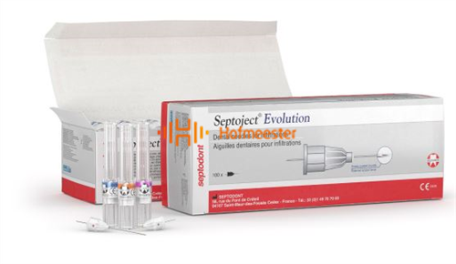 SEPTODONT SEPTOJECT EVOLUTION INJECTIENAALDEN 30G EXTRA-SHORT 0,30x16mm (100st)