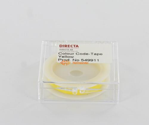 DIRECTA TAPE`N TELL IDENTIFICATIETAPE ROL GEEL (6mm/3mtr)