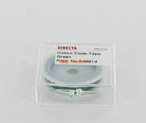 DIRECTA TAPE`N TELL IDENTIFICATIETAPE ROL GROEN (6mm/3mtr)