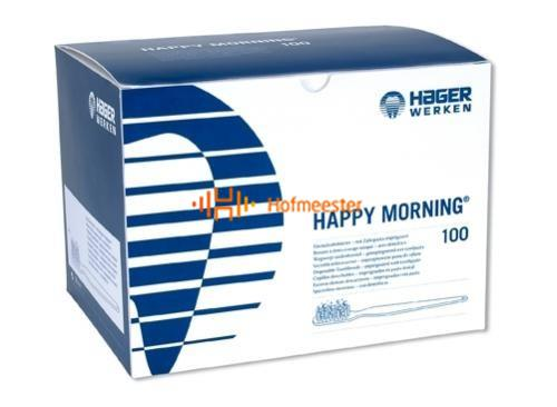 HAGER&WERKEN DISPOSABLE BORSTELS HAPPY MORNING ZONDER TANDPASTA (100st)