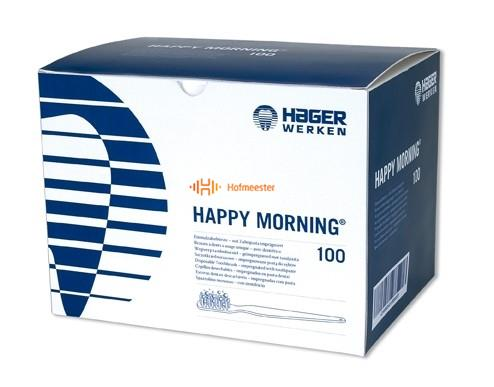 HAGER&WERKEN DISPOSABLE BORSTELS HAPPY MORNING MET TANDPASTA (100st)