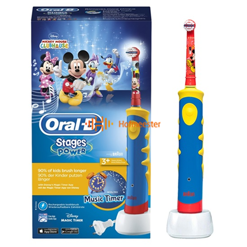 ORAL-B ELEKTRISCHE TANDENBORSTEL STAGE POWER D10 KIDS MICKEY MOUSE