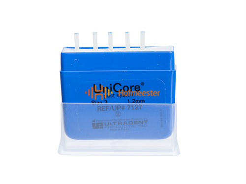 ULTRADENT UNICORE POST NR.3 REFILL 1,2mm BLAUW (5st)