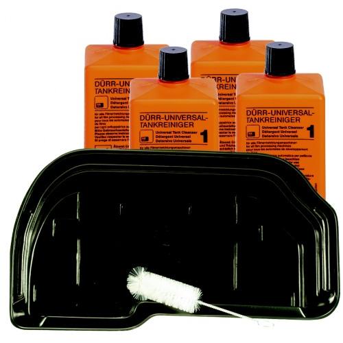 DÜRR PERIO-CLEAN SET COMPLEET MET BAK (Reiningingsbak, 2 Flacons Universal tankreiniger, reinigingsb