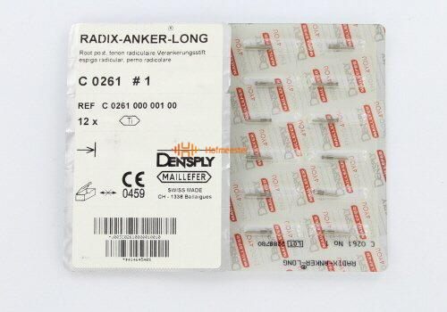 MAILLEFER RADIX ANKERS LANG/TITANIUM REFILL NR.1-TL GEEL (12st)