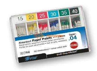 VDW PAPERPOINTS .04 ASSORTED NR.15-40 (120st)
