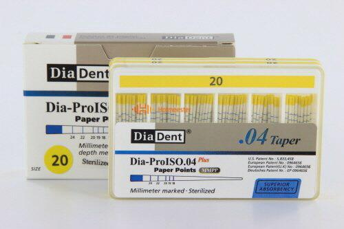 DIADENT PAPERPOINTS .04 NR.20 GEEL (100st)