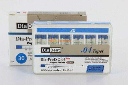 DIADENT PAPERPOINTS .04 NR.30 BLAUW (100st)