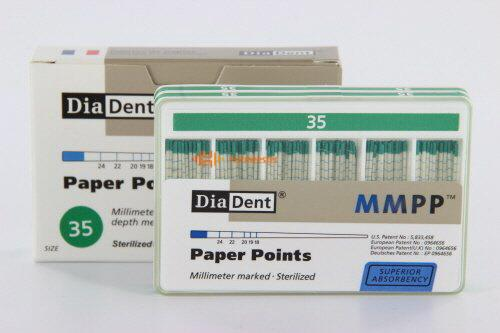 DIADENT PAPERPOINTS COLOR-CODED NR.35 GROEN (200st)