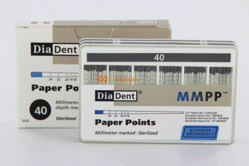 DIADENT PAPERPOINTS COLOR-CODED NR.40 ZWART (200st)