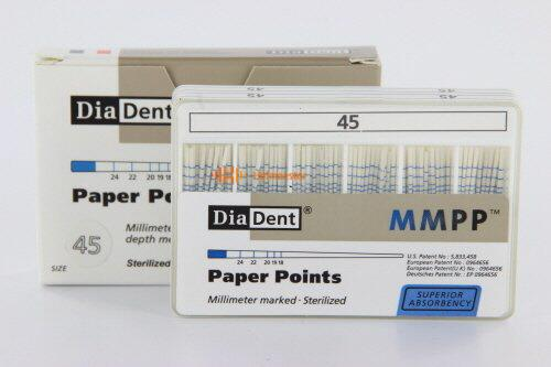 DIADENT PAPERPOINTS COLOR-CODED NR.45 WIT (200st)