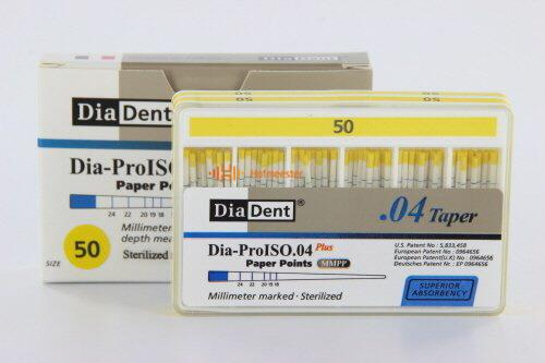DIADENT PAPERPOINTS .04 NR.50 GEEL (100st)