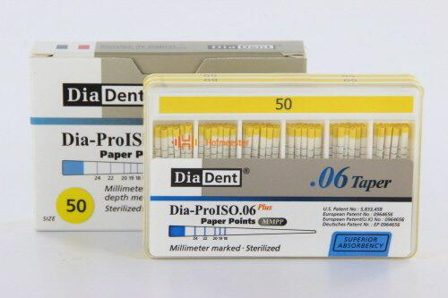DIADENT PAPERPOINTS .06 NR.50 GEEL (100st)