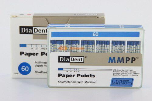 DIADENT PAPERPOINTS COLOR-CODED NR.60 BLAUW (200st)