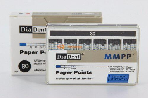 DIADENT PAPERPOINTS COLOR-CODED NR.80 ZWART (200st)