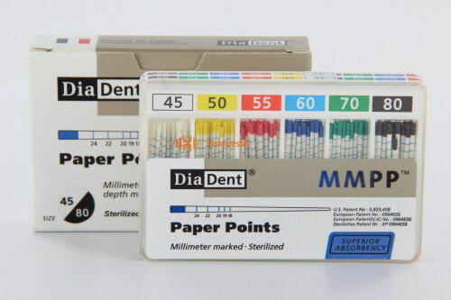 DIADENT PAPERPOINTS ASSORTED COLOR-CODED NR.45-80 (200st)
