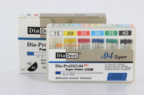 DIADENT PAPERPOINTS .04 ASSORTED NR.15-40 (60st)