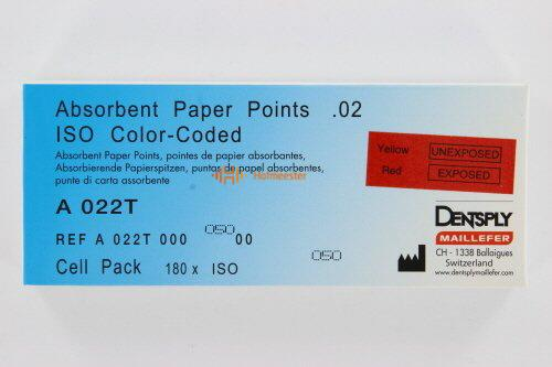MAILLEFER PAPERPOINTS CELLPACK .02 NR.50 GEEL (180st)