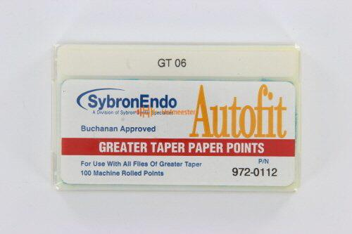SYBRON-ENDO ANALYTIC AUTOFIT GREATER TAPER PAPERPOINTS.06 (100st)