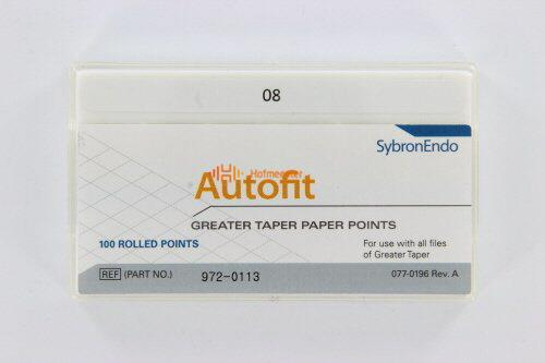SYBRON-ENDO ANALYTIC AUTOFIT GREATER TAPER PAPERPOINTS.08 (100st)