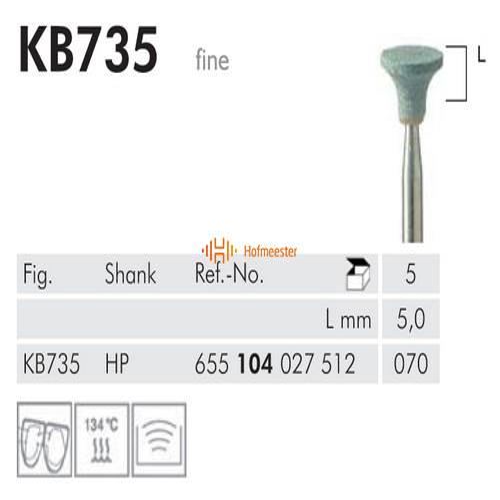 MEISINGER HP KERAMISCHE SLIJPKOP KB735 (5st)