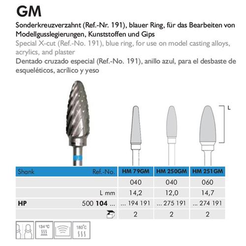 MEISINGER HP CARBIDE FRAIS 251GM060 (2st)