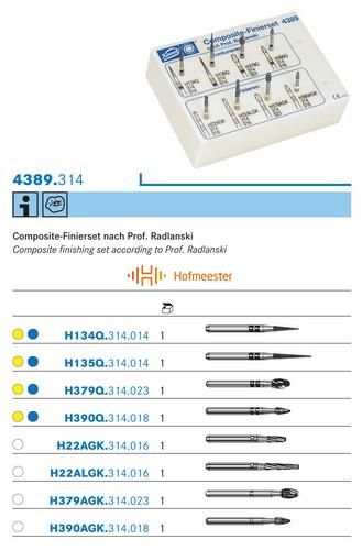 KOMET FG COMPOSIET FINISHING KIT NR.4389