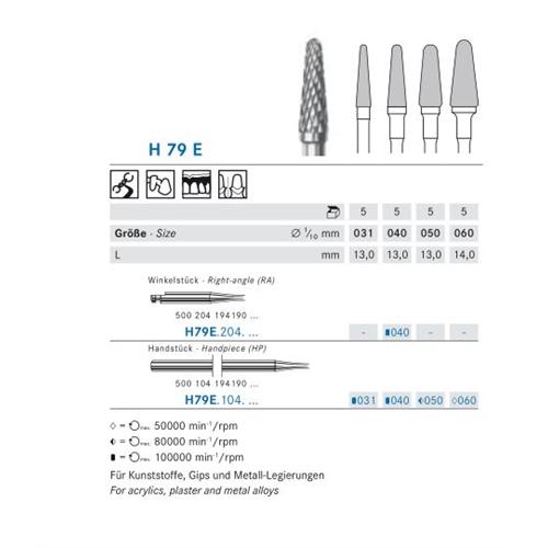 KOMET HP CARBIDE FRAIS H79E40 (5st)