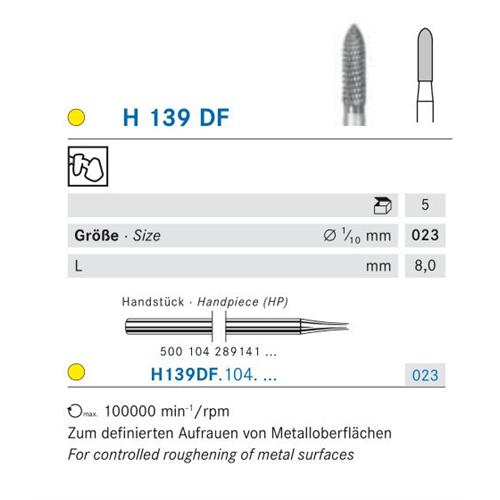KOMET HP CARBIDE H139DF023 (5st)