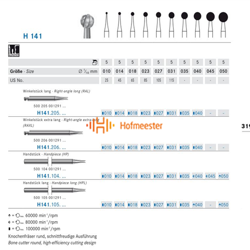 KOMET HP CARBIDE H141/010 (5st)