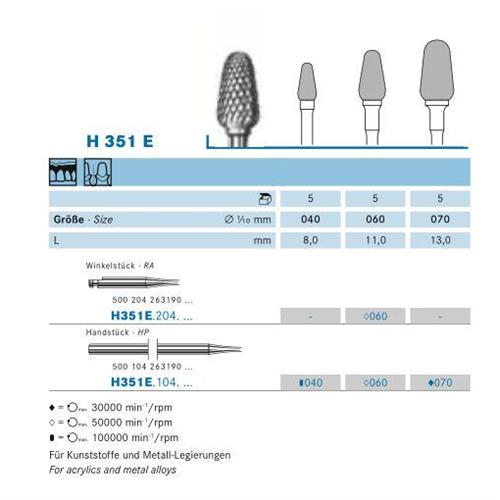 KOMET RA CARBIDE FRAIS H351E060 (5st)