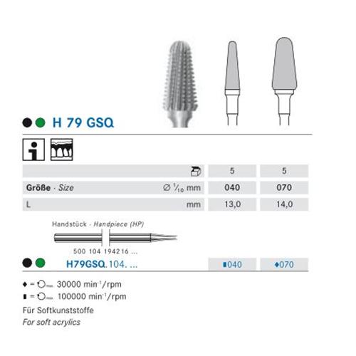 KOMET HP FRAIS H79GSQ070 (5st)