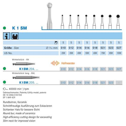 KOMET CERABUR RA-LONG K1SM012 (5st)