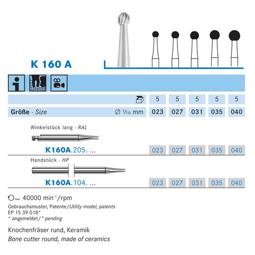 KOMET CERABUR RA-LONG K160A023 (5st)