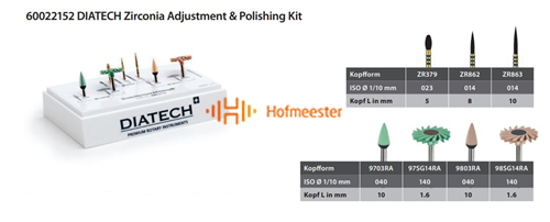 DIATECH ZIRCONIA ADJUSTMENT & POLISHING KIT 60022152