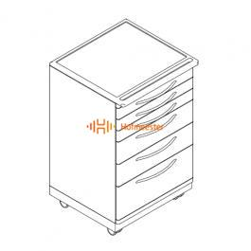 ZILFOR LADENKASTJE MET 6 LADEN KLEUR WIT KERAMISCH BOVENBLAD REFERENTIE PRT6 (50x81,6x43cm)