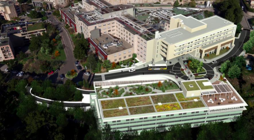 Le projet Grand Clairval vise à réunir l'actuel Hôpital privé Clairval et l'Hôpital privé Résidence du Parc.