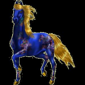 Reitpferd Andalusier Dunkelfuchs mit heller Mähne