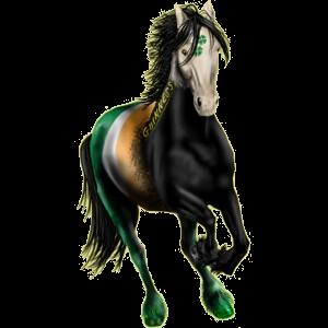 Pegasus-Reitpferd Lusitano Apfelschimmel