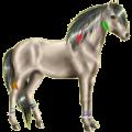 Pony Quarter Pony Brauner mit Overo-Scheckung